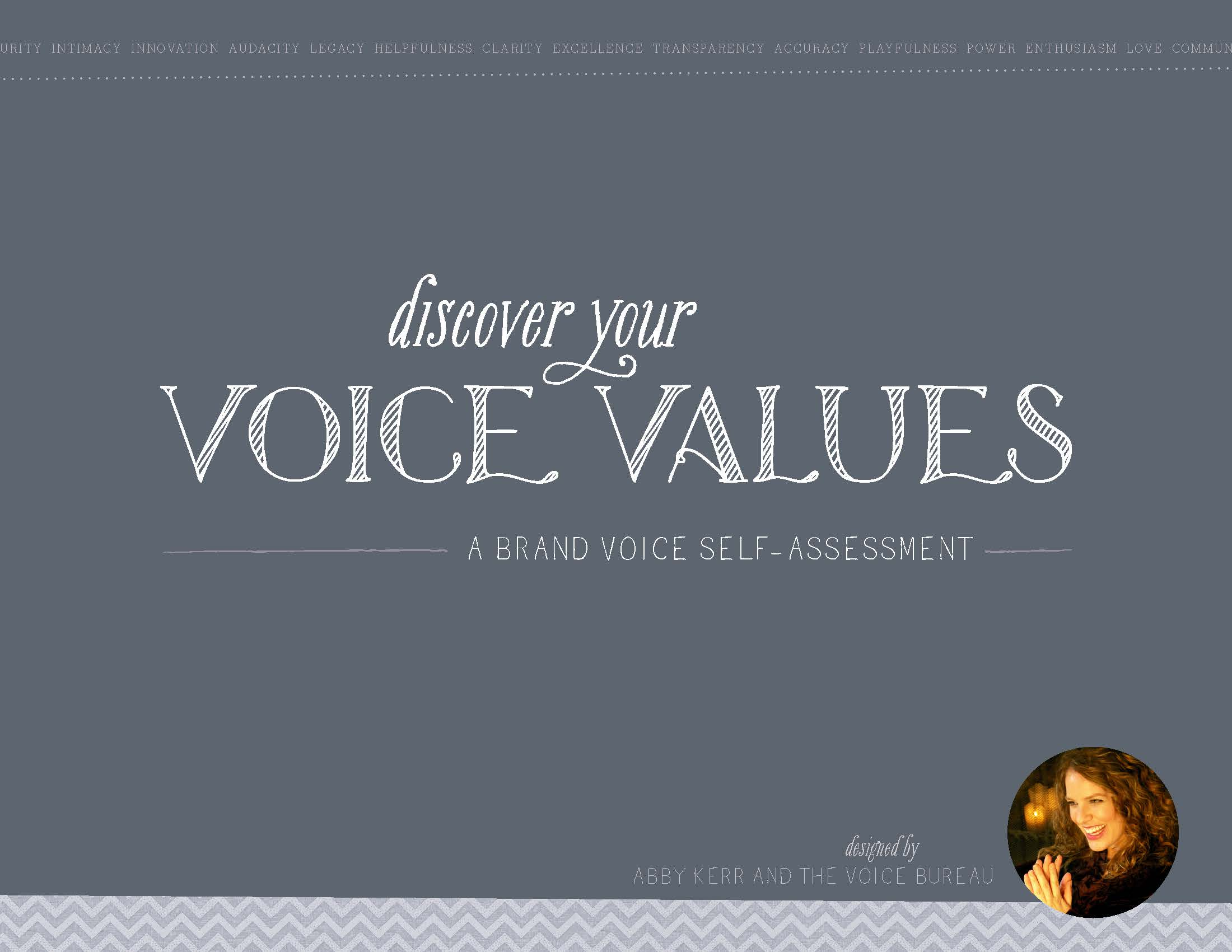 Discover Your Voice Values self-assessment