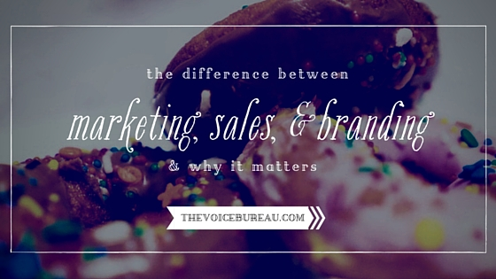 Difference between marketing sales branding