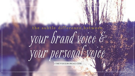 difference between brand voice and personal voice