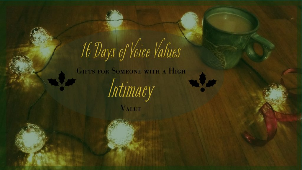 Voice Values Gift Guide for Intimacy