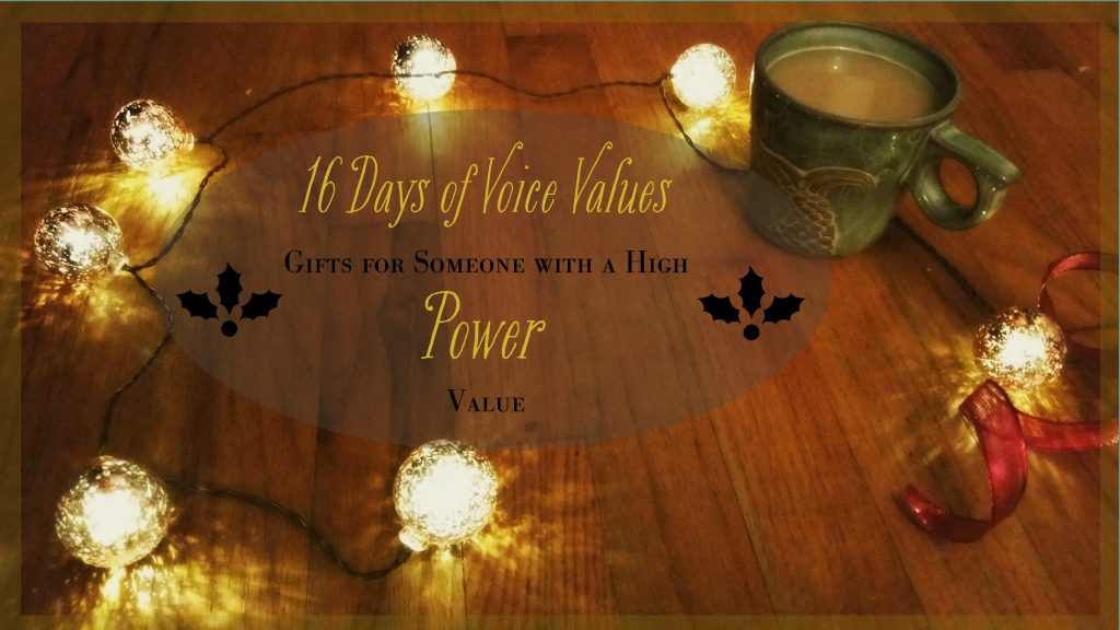 Voice Values Gift Guide for Power