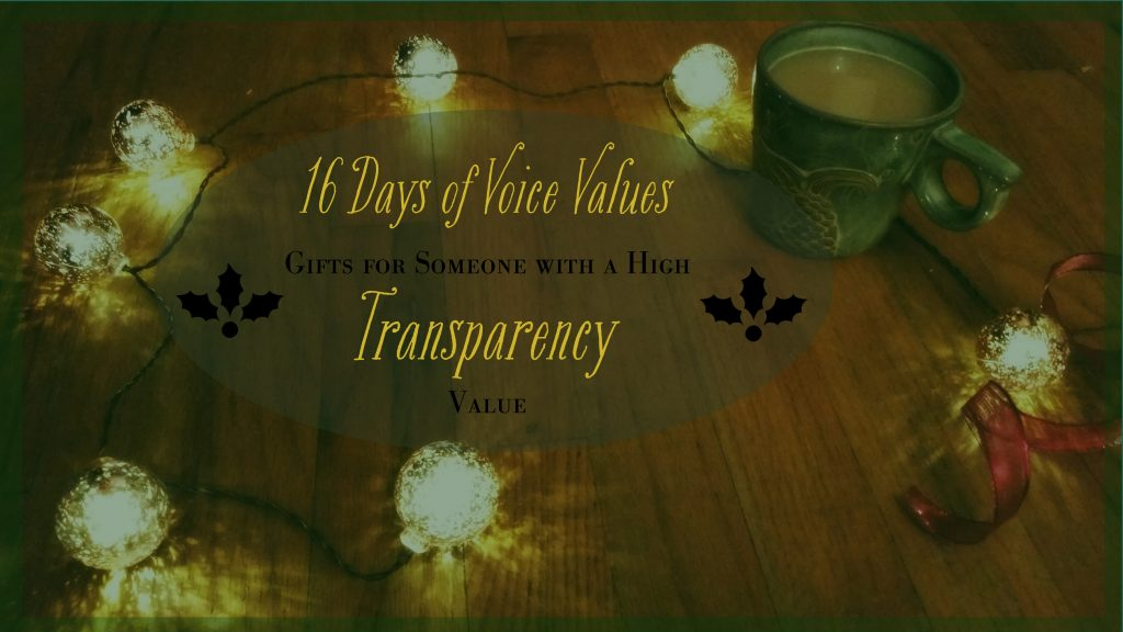 Voice Values Gift Guide for Transparency
