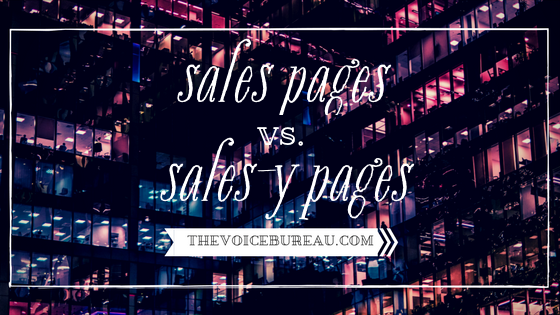 Sales vs Salesy Blog